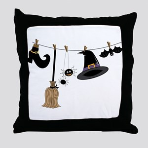 Witch Clothing Throw Pillow