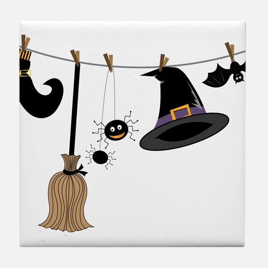 Witch Clothing Tile Coaster
