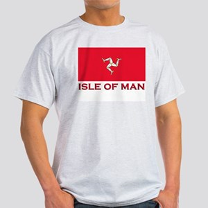 The Isle Of Man Flag Merchandise Ash Grey T-Shirt