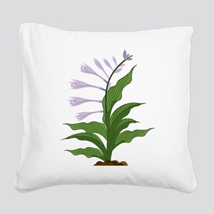 Flowering Hosta Square Canvas Pillow