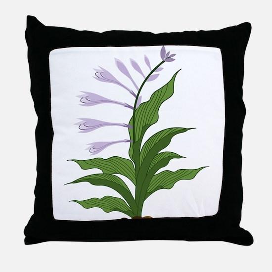 Flowering Hosta Throw Pillow