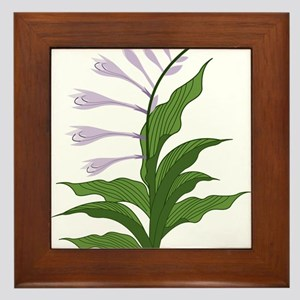 Flowering Hosta Framed Tile