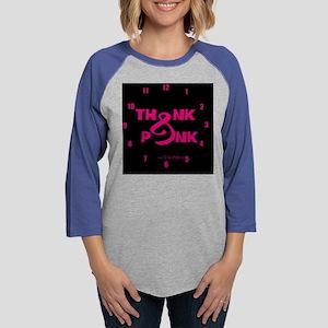 thinkpink2_clockDARK Womens Baseball Tee