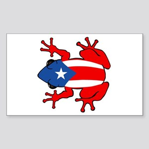 Puerto Rico - PR - Coqui Sticker (Rectangle)
