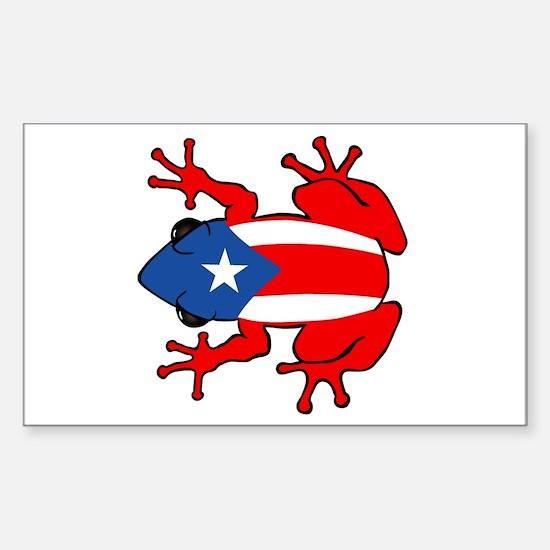Puerto Rico - PR - Coqui Sticker (Rectangle)