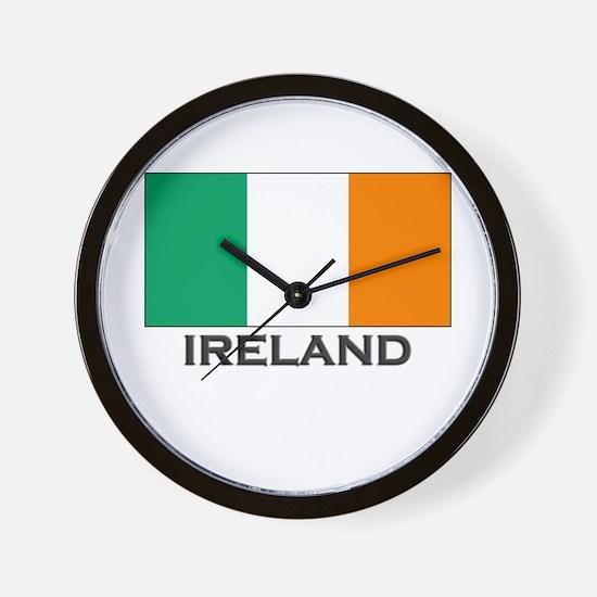 Ireland Flag Stuff Wall Clock