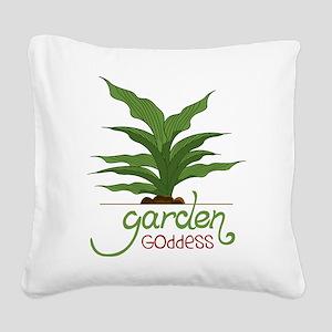 Garden Goddess Square Canvas Pillow