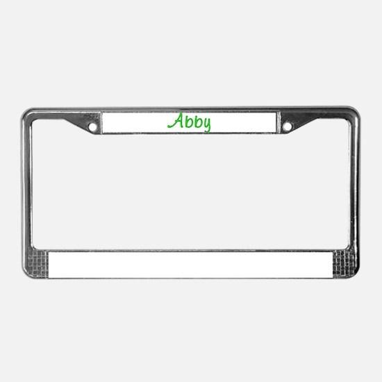 Abby Glitter Gel License Plate Frame