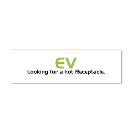 Electric Vehicle Hot Receptacle Car Magnet 10 x 3