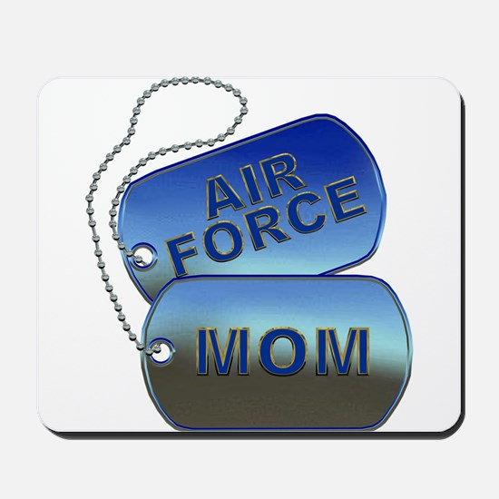 Air Force Mom Dog Tags Mousepad