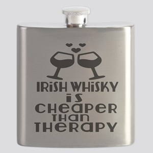Irish Whiskey Is Cheaper Than Therapy Flask