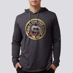 Desert Storm Veterans Mens Hooded Shirt