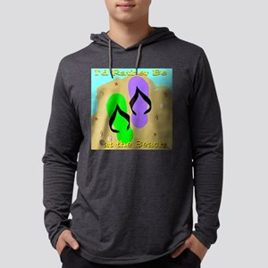 3-beach2 3x3 Mens Hooded Shirt