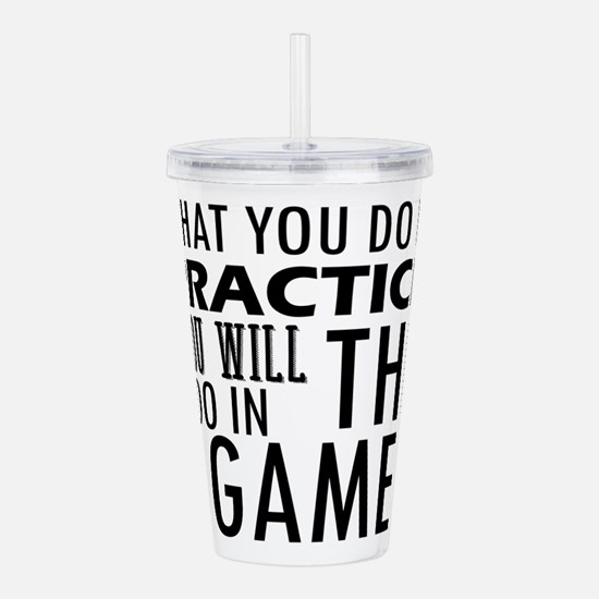 Funny Gamer chick Acrylic Double-wall Tumbler