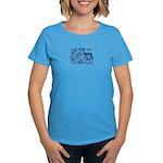 Deer in Vineyard Batik Women's Dark T-Shirt