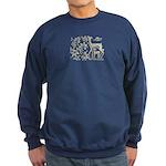 Deer in Vineyard Batik Sweatshirt (dark)