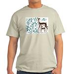Deer in Vineyard Batik Light T-Shirt