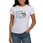 Deer in Vineyard Batik Women's T-Shirt