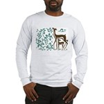 Deer in Vineyard Batik Long Sleeve T-Shirt