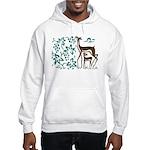 Deer in Vineyard Batik Hooded Sweatshirt