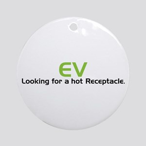 Electric Vehicle Hot Receptacle Ornament (Round)