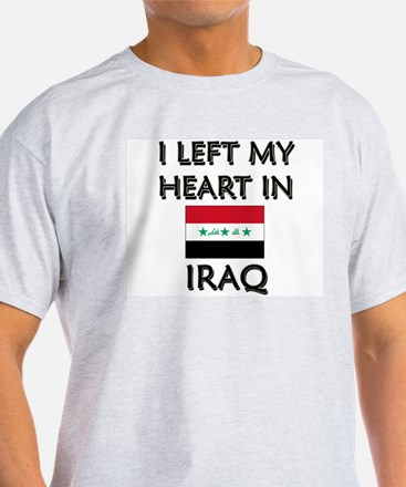 I Left My Heart In Iraq Ash Grey T-Shirt