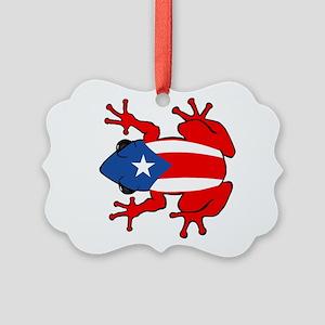 Puerto Rico - PR - Coqui Picture Ornament