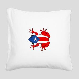 Puerto Rico - PR - Coqui Square Canvas Pillow