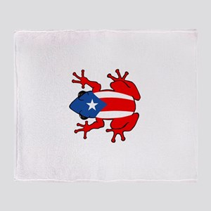 Puerto Rico - PR - Coqui Throw Blanket