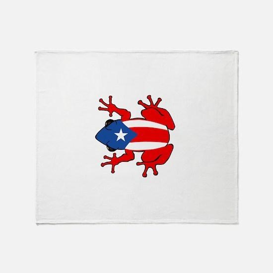 Puerto Rico - PR - Coqui Throw Blanket