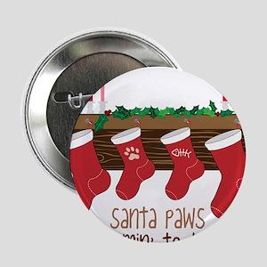 """Santa Paws 2.25"""" Button"""