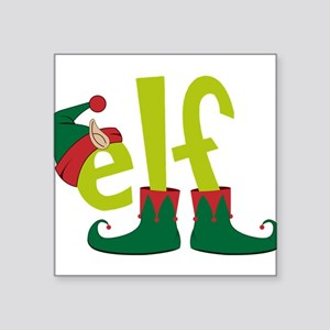 "Elf Square Sticker 3"" x 3"""