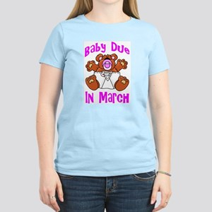 Baby Due In March Women's Pink T-Shirt