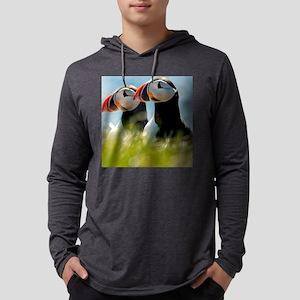 Puffin Pair 14x14 600 dpi Mens Hooded Shirt