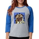 pug1clock.png Womens Baseball Tee