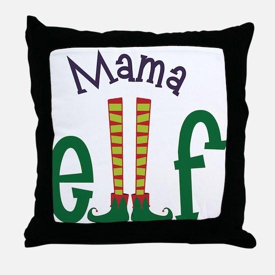 Mama Elf Throw Pillow