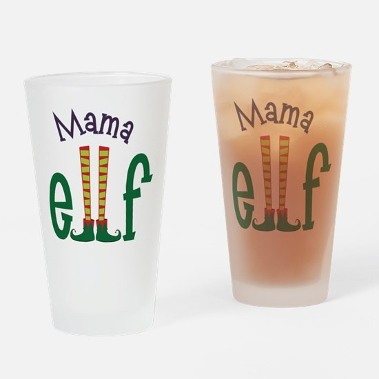 Mama Elf Drinking Glass