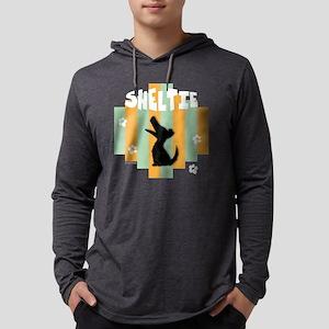 SheltieStripe4 Mens Hooded Shirt