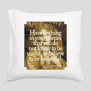 Morris Motto Square Canvas Pillow