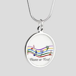 design Silver Round Necklace