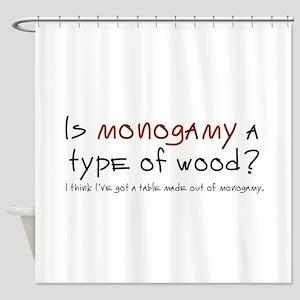 'Monogamy' Shower Curtain