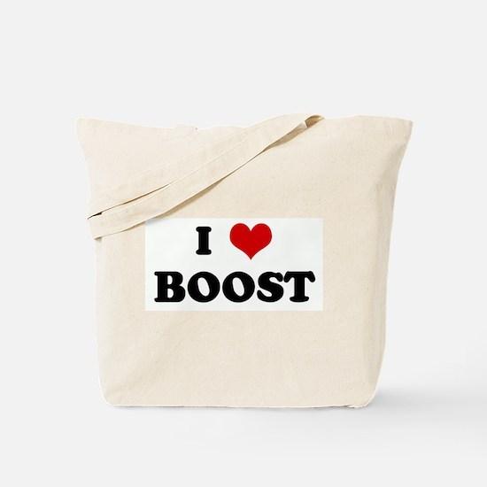 I Love BOOST Tote Bag