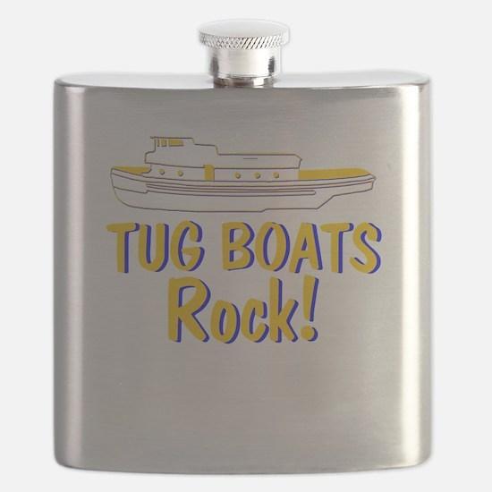 Tug Boats Rock Flask