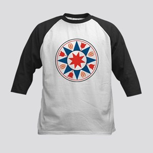 Eight Pointed Star Kids Baseball Jersey