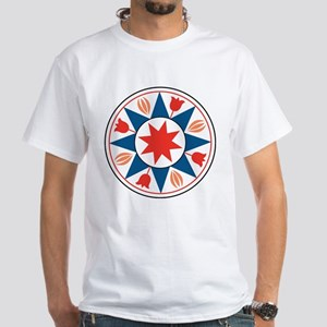 Eight Pointed Star White T-Shirt