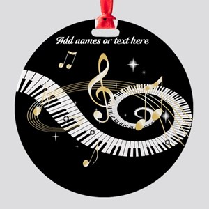 personalized music Round Ornament
