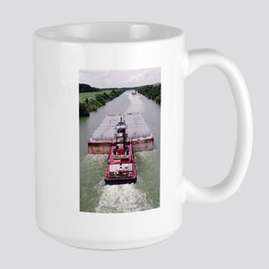 Large Mug With Towboat On Victoria, Texas Canal