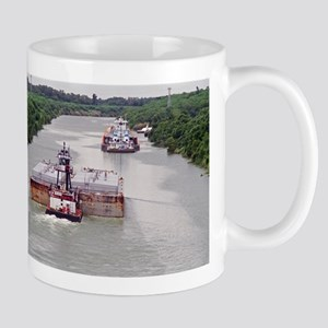 Mug With Towboat In Narrow Texas Canal