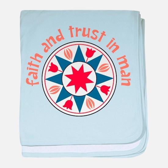 Faith And Trust baby blanket