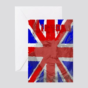Churchill Union Jack Greeting Cards